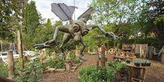Gartenskulptur aus Kupfer