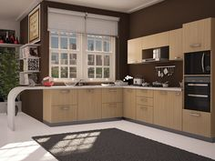 looking for designs of modular kitchen? Then find best and latest modular kitchen interior ideas, designs, cabinets, pictures and photo gallery. L Shaped Modular Kitchen, L Shaped Kitchen, Interior Decorating, Interior Design, Interior Ideas, Kitchen Photos, Luxury Kitchens, Home Look, Kitchen Interior