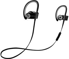 Beats by Dr. Dre - Powerbeats2 Wireless Earbud Headphones - Black - Front Zoom