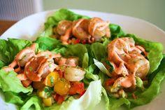 I Thee Cook: Bang Bang Shrimp Lettuce Wraps (Healthy Version)