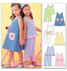 M4006  great pattern mine is somewhere folded in a fabric stash! Children's & Girls' Dresses, Top & Pants