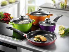 Accesorios para cocina y comedor - Batería de cocina de inducción, 7 piezas, varios colores -  http://tienda.casuarios.com/karcher-multicolor-bateria-de-cocina-de-induccion-7-piezas-varios-colores/
