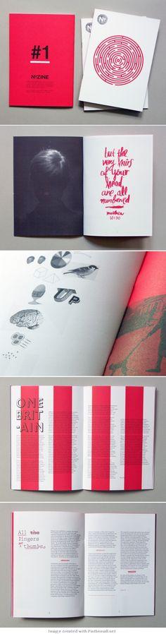 Beautiful zine layout. Tight colour combo. | N0.Zine n°1 - design de James Le Beau-Morley (Royaume-Uni)