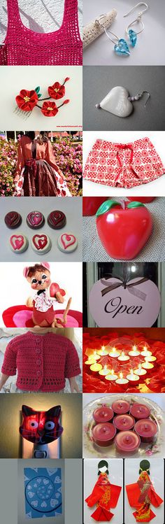 Happy Valentine Day! by Eni Toth on Etsy--Pinned with TreasuryPin.com Happy Valentines Day, Etsy