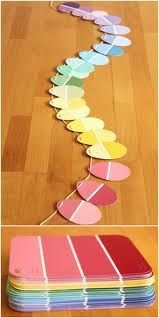 Who knew that paint chips make the perfect Easter egg garland?