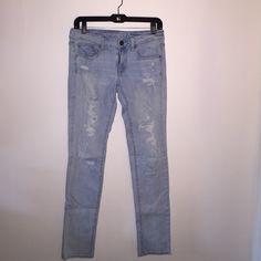 American eagle jeans American eagle straight leg jeans. Light wash, ripped design. American Eagle Outfitters Pants Straight Leg