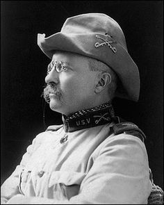 Future President Theodore Roosevelt with his Rough Riders New 5x7 Photo