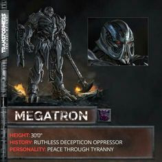 MEGATRON IN TRANSFORMERS 5 THE LAST KNIGHT