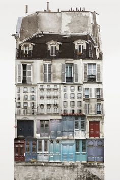 This series of collages by Sweden-based artist Anastasia Savinova, entitled Genius Loci, provides a unique study of city architecture. Collage Architecture, Architecture Parisienne, Collage Kunst, City Collage, Art Collages, Collage Collage, Photo Collages, Collage Photo, Genius Loci