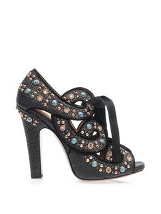 Azzedine Alaïa Raffia and stud sandals