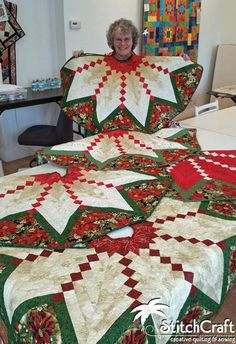 StitchCraft of Boca: Quilt an Heirloom - French Braid Tree Skirt Xmas Tree Skirts, Christmas Tree Skirts Patterns, Christmas Crochet Patterns, Christmas Bells, Christmas Wreaths, Christmas Decorations, Christmas Patchwork, Christmas Quilting, Braid Quilt
