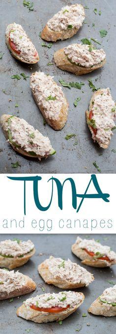 Tuna and Egg Canapes. ValentinasCorner.com