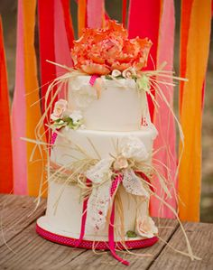 Wedding cake by Trinity Wood of Sweet Sensations Wedding & Special Occasion Cakes in Russellville, AR