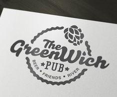 Greenwich Pub #logo #inspiration #design  Etsy logos http://www.etsy.com/shop/BannerSetDesigns