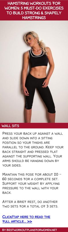 Hamstring workouts for women: 5 must-do exercises to build strong & shapely hamstrings - Wall sits