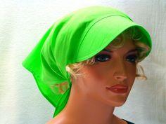 Kopftücher - Kopftuch hellgrün mit Schild - ein Designerstück von MODEATELIER-HILDEGARD bei DaWanda