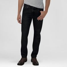 Dickies Men's Slim Fit Straight Leg 5-Pocket Pant Black 36X32