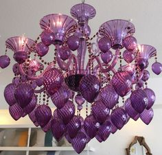 A brilliantly over-the-top jewel-toned chandelier