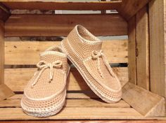 Women's Slippers Crochet Houseshoes by KnettasKnits on Etsy