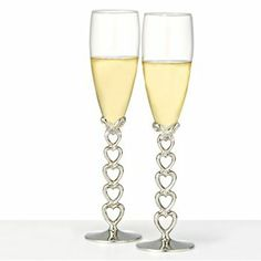 Open Heart Champagne Flutes