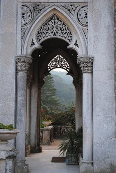 The Monserrate Palace is an exotic palatial villa located near Sintra, Portugal, the traditional summer resort of the Portuguese court. It was built in 1858 for Sir Francis Cook, an English baronet created visconde de Monserrate by King Luís. #Portugal