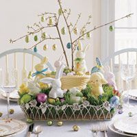 A beautiful Easter tablescape