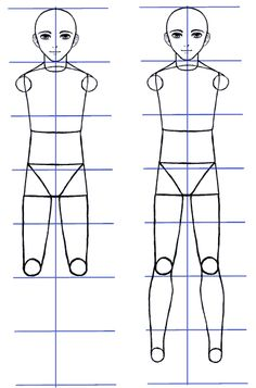 How to Draw Anime Guys: Body Proportions - Manga Tuts