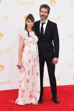 Amanda Peet and David Benioff at the Emmys