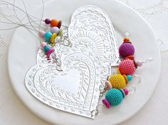 Valentines Day Decoration Silver Tin Heart Home by FoilingStar, $32.00