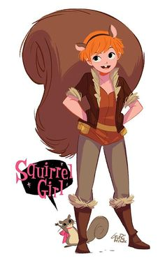 The Unbeatable Squirrel Girl is a terrific new series from Marvel Comics starring Doreen Green! Ms Marvel, Marvel Women, Marvel Dc Comics, Character Drawing, Comic Character, Character Design, Character Concept, Character Inspiration, Squirrel Girl Marvel