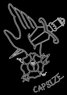 Design for a band called Capsize #capsize #tattoo #tattoos #traditional #traditionaltattoos #flash #print #traditionaltattoo