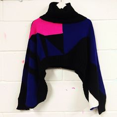 Horace crop knit roll neck jumper. Awesome piece. Size medium. Baggy sleeves.