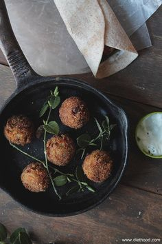 """Veggie Meatballs   www.diethood.com   Delicious """"meatballs"""" made with veggies and spices   #recipe #vegetarian"""