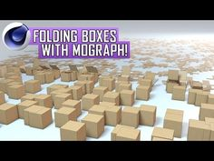 Cinema 4D Tutorial: Folding Boxes with MoGraph - YouTube