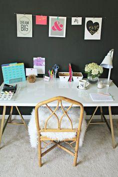 Burlap & Lace: pretty ikea desk