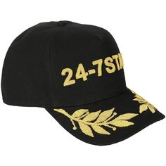 dsquared2 24 7 Logo Snapback Cap (£240) ❤ liked on Polyvore featuring accessories, hats, logo hats, snap back cap, dsquared2 cap, dsquared2 and cap hats