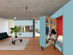 Het micro-appartement in de stad - XS Deluxe Micro House, Tiny House, Small Houses, Ibiza, Common Room, Small Spaces, Loft, Sleep, Cabin