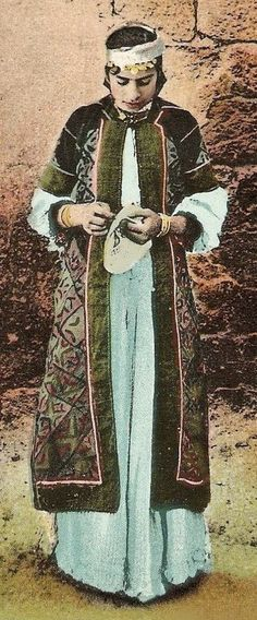 Woman of an-Nasira, Palestine.  Late-Ottoman era, c. 1900.