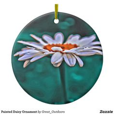 Shop Painted Daisy Ornament created by Great_Outdoors.
