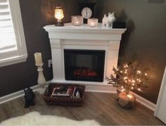 Eye-Opening Cool Tips: Fireplace Built Ins Fixer Upper gas fireplace heater.Corner Fireplace With Built Ins fake fireplace medium.Old Fireplace. Corner Electric Fireplace, Fake Fireplace, Modern Fireplace, Living Room With Fireplace, Fireplace Design, Living Room Decor, Electric Fireplaces, Corner Fireplaces, Fireplace Drawing