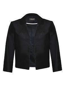Women's  Black Shantung Jacket