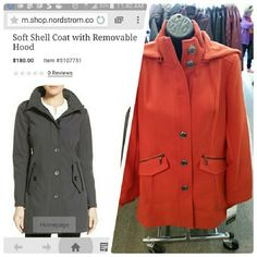KENSIE Soft Shell Coat Come in Orange ONLY!!!! Kensie Jackets & Coats
