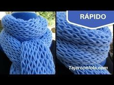 Brioche Stitch Scarf en 2 agujas o palitos Knitting Videos, Crochet Videos, Knitting Stitches, Knitting Patterns, Crochet Patterns, Crochet Shawls And Wraps, Crochet Scarves, Crochet Yarn, Easy Crochet