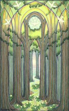 Exquisite images of nature and spirit layered with sacred geometry create visions of a multidimensional reality of healing and transformation. By Visionary artist, Francene Hart. Forest Illustration, Nature Images, Sacred Geometry, Watercolor Paintings, Spirituality, Artist, Trees, Symmetry Art, Inspirational Verses