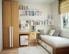 Kleinere Möbel für die Einrichtung eines Studentenzimmers anwenden