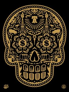 Shepard Fairey (Obey), Obey + Ernesto Yerena 'Power And Glory' (Gold)