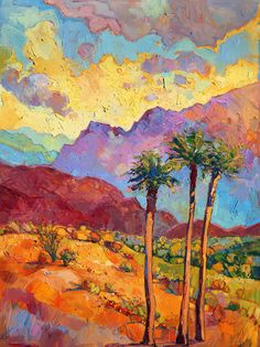 Indian Wells Print By Erin Hanson