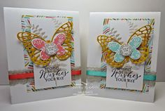 Butterfly Basics - Stamp set with coordinating Butterfly Thinlit Dies = LOVE!