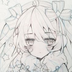 """Just a quick close up of a sketch of my miku design lmao #constellations_miku  Its actually a fullbody sketch that ill finish eventually but for now have this sneak peak (`・ω・´)"""" - - - - - - #art #sketch #anime #manga #animegirl #animeart  #animefanart #h"""