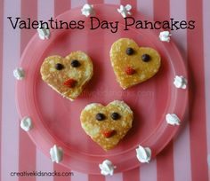 valentines day pancakes for the kids --- from creativekidsnacks.com